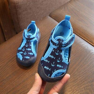 Chaussures dété imprimé Floral pour enfants | Baskets de Camouflage pour bébés, chaussures de plage ajourées pour enfants, sandales de sport pour garçons