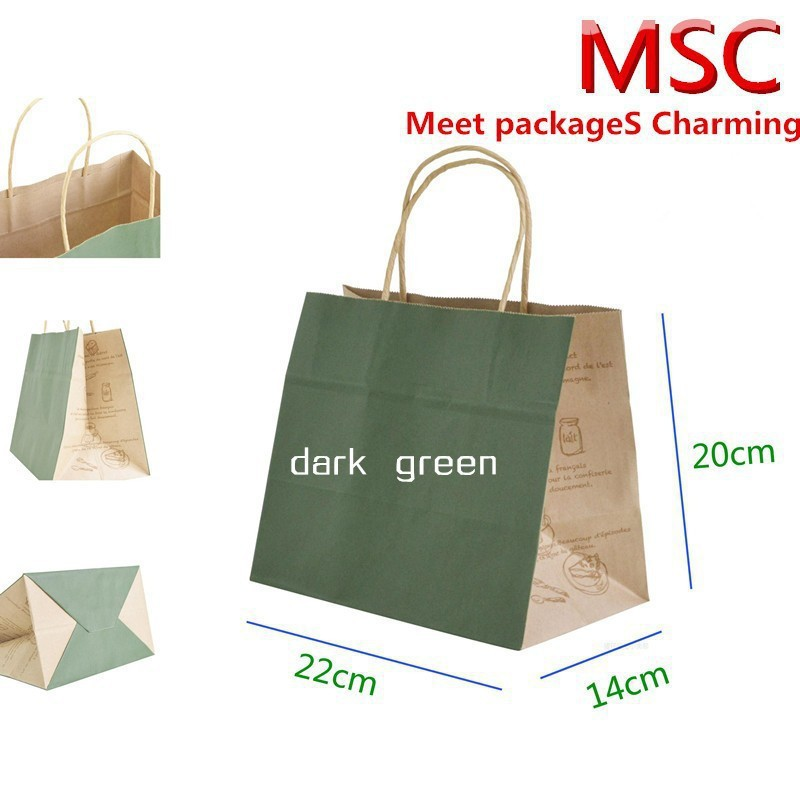 Medium Size 3 Styles Multi Color 100 Kraft Paper Gift Bag Festival Bags With Handles 10 Pcs Lot On Aliexpress Alibaba Group