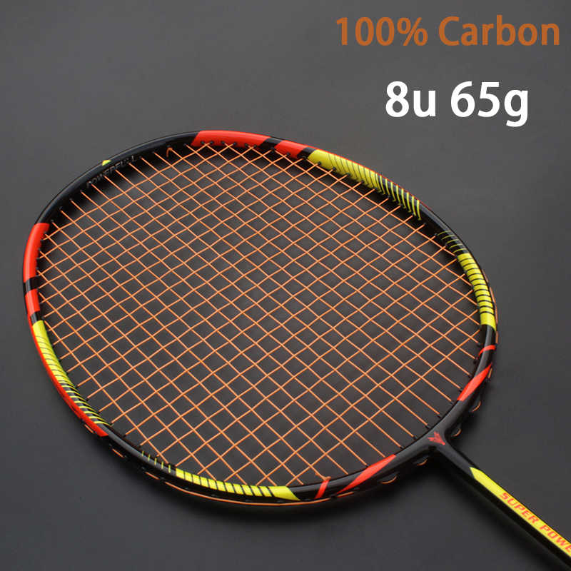 8U 65g Professional Carbon Badminton Racket Strung Bag Multicolor Z Speed Force Ultralight Rakets Strings Rqueta Padel 22-30LBS