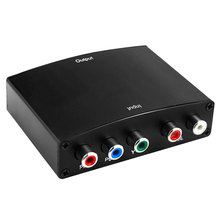 1080P HD Component RGB YPbPr To HDMI Converter Video Audio Adapter YPbPr/RGB + R/L AV