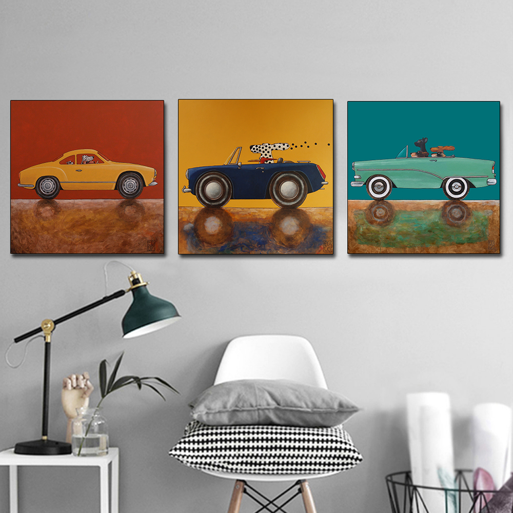 AAHH Canvas Painting Cartoon Painting Pictures Animal Posters Wall Art Animals Picture Print on Canvas Decor for Home No Frame in Painting Calligraphy from Home Garden