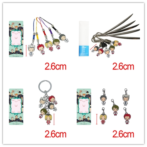 5 Pcs/set Haikyuu!!! figures toys Haikyuu Doll figure Keychain set pendant toys free shipping how to train your dragon toys figures keychain new fashion cute toothless necklace pendant keyring for kids toys