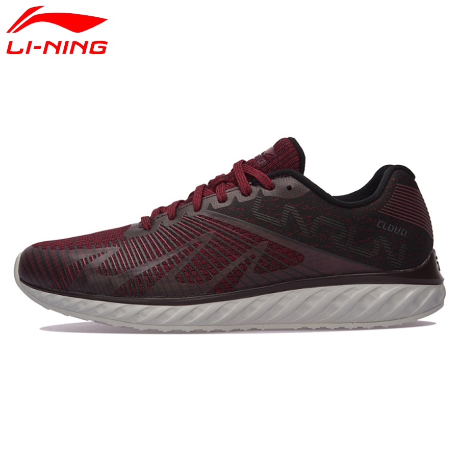 Li Ning 207new Men Li Ning Cloud IV Flame Cushion Running Shoes Light Sneakers Comfort LiNing