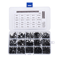 480Pcs/set M2 M2.5 M3 DIN912 Black High-strength 12.9 Level Alloy Steel Screw Hexagon Socket Head Cap Screws Car Furniture HW024