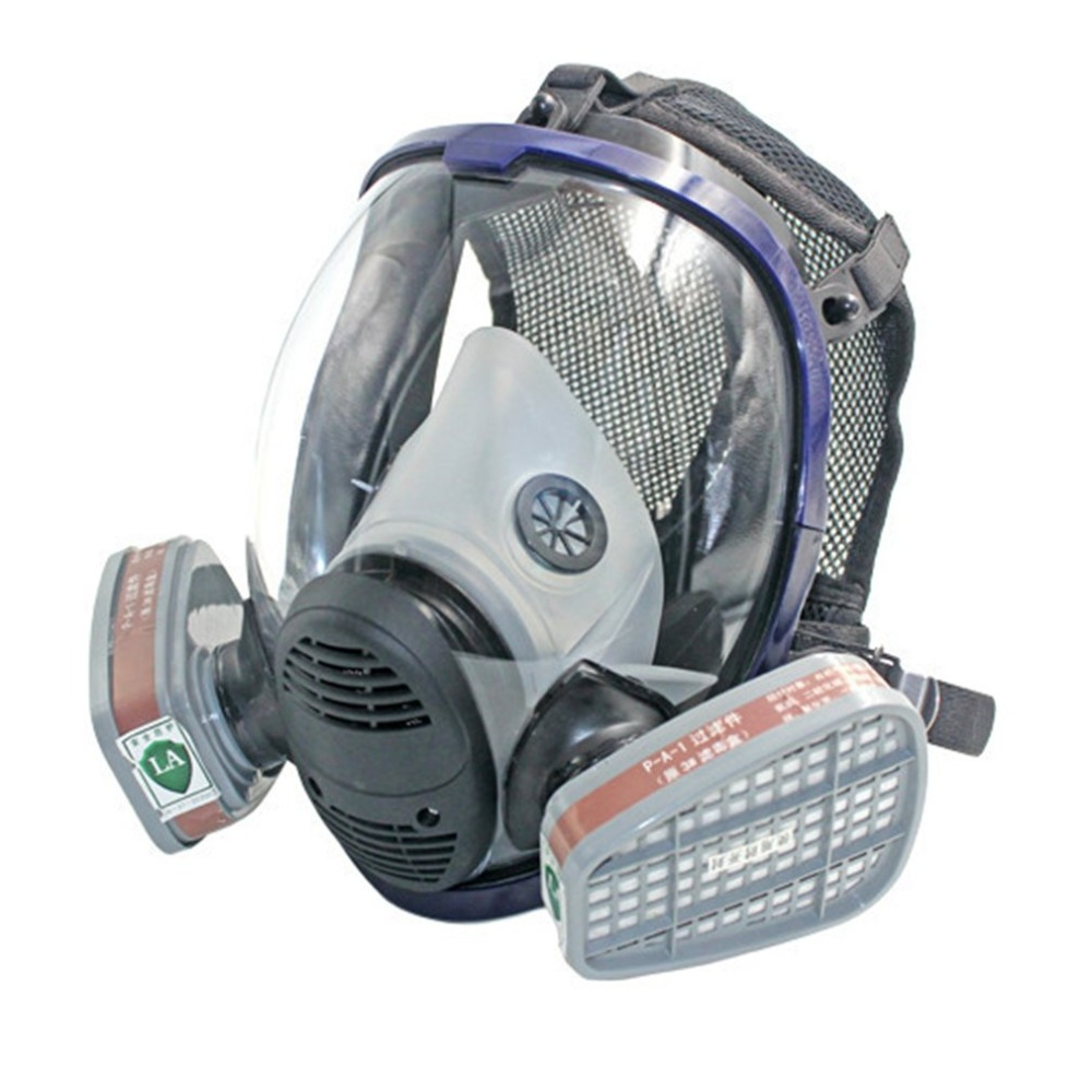 Full Face Respirator Gas Mask Breather Anti-dust Anti Organic Gas Safety Mask for Industry Painting Spraying Gas Mask 9 in 1 suit gas mask half face respirator painting spraying for 3 m 7502 n95 6001cn dust gas mask respirator