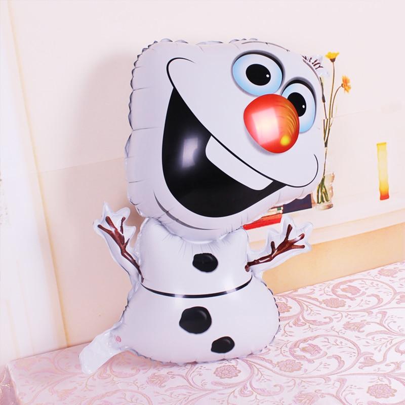 Lucky 1pcs 78*46cm Olaf Balloon Foil Helium Balloons Snowman Elsa Balloons Classic Toys Party Wedding Decoration Globos BX0001