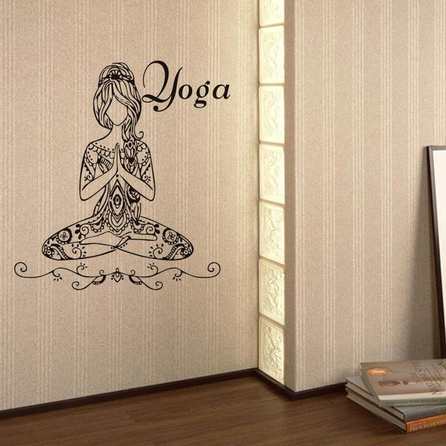 Hot Woman Girl Yoga Wall Stickers Living Room Yoga Room Wallpaper Home Decorative Wall Art Decal Poster Glass Decal Decoration Yoga Wall Stickers Wall Stickerhome Decor Aliexpress