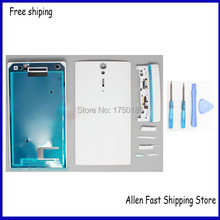 100% Genuine Full Battery Door Case Housing Cover For Sony Xperia S LT26i LT26 Housing +Repair Parts, Free Shipping