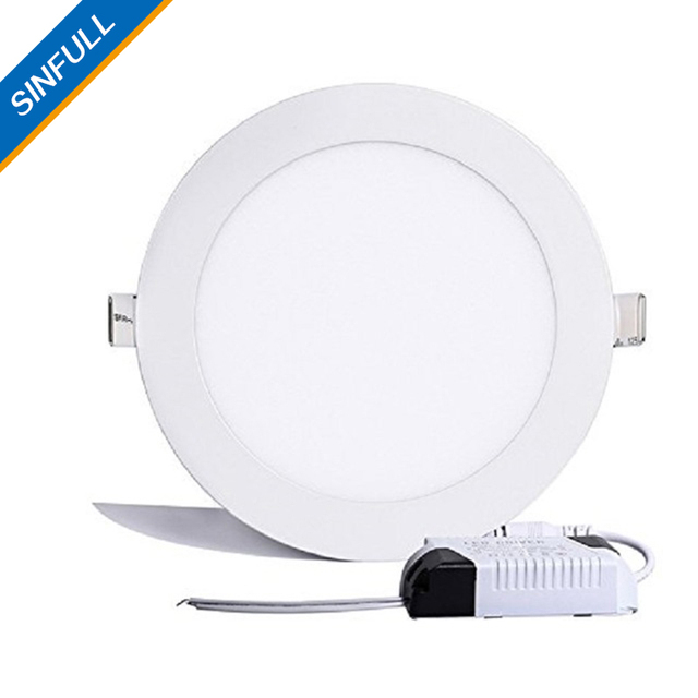 sinfull 9w flat led panel light round ultra thin led recessed