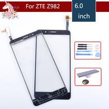 10pcs/lot Original Touch Screen Digitizer For ZTE Blade Z Max Z982 Panel Touchscreen Lens Front Glass Sensor NO LCD 982