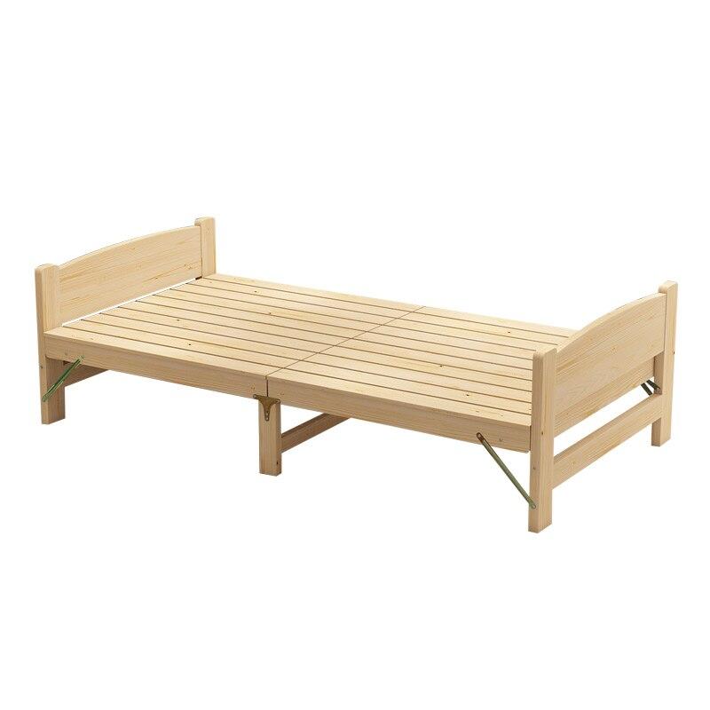 100% lit pliant en bois massif lit adulte lit simple en bois massif chambre, dortoir hôtel meubles meubles en bois massif
