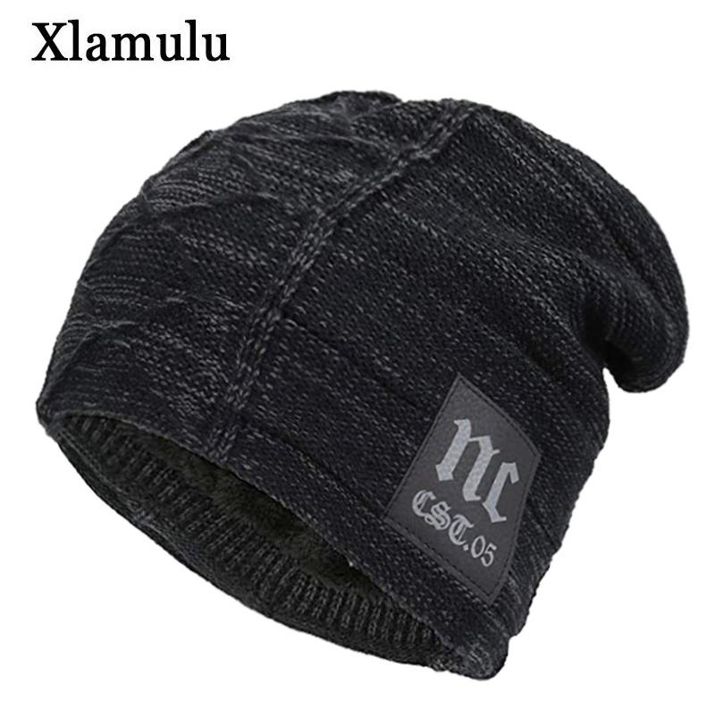 Xlamulu Skullies Beanies Winter Hats For Men Knitted Hat Women Gorras Baggy Warm Soft Neck Balaclava Male Bonnet Beanie Hats Cap