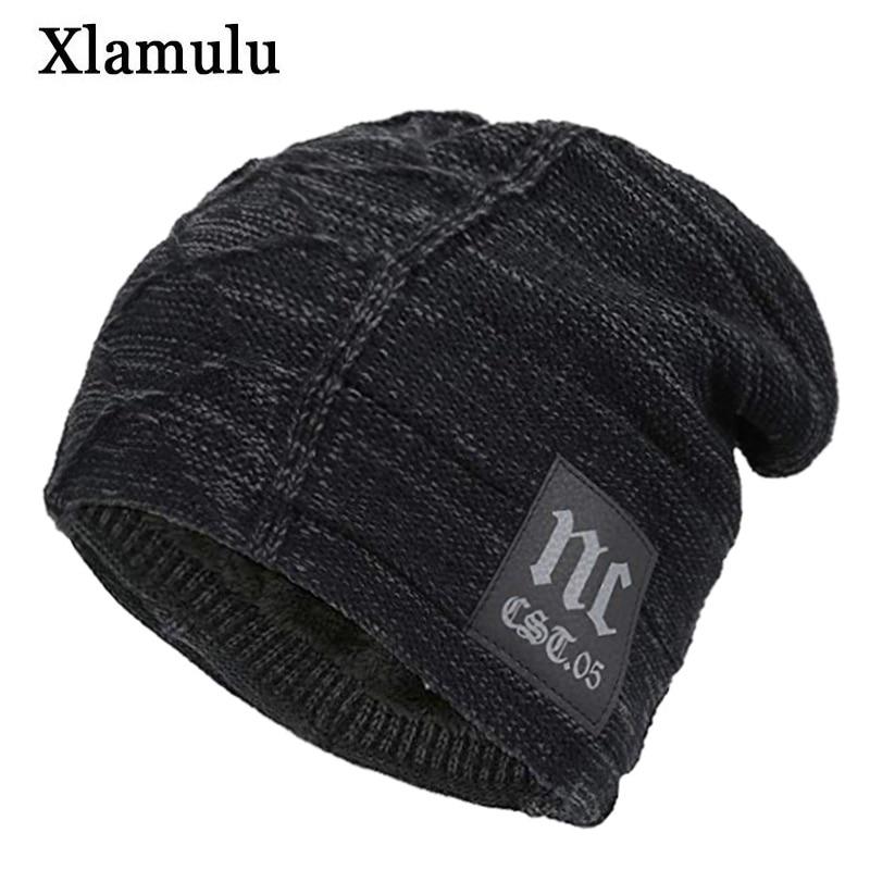 Xlamulu Skullies Beanies Winter Hats For Men Scarf Knitted Hat Women Gorras Warm Soft Neck Balaclava Male Bonnet Beanie Hats Cap