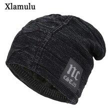 Xlamulu Skullies Beanies Winter Hats For Men Knitted Hat Wom