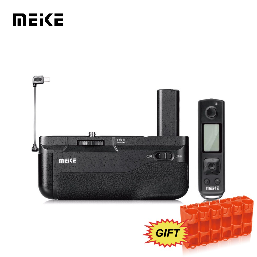 Meike MK-A6300 PRO Battery grip Built-in 2.4GHZ Remote Controller Up to 100M to Control shooting for sony a6300,a6000 camera meike mk 760d pro built in 2 4g wireless control battery grip suit for canon 750d 760d as bg e18