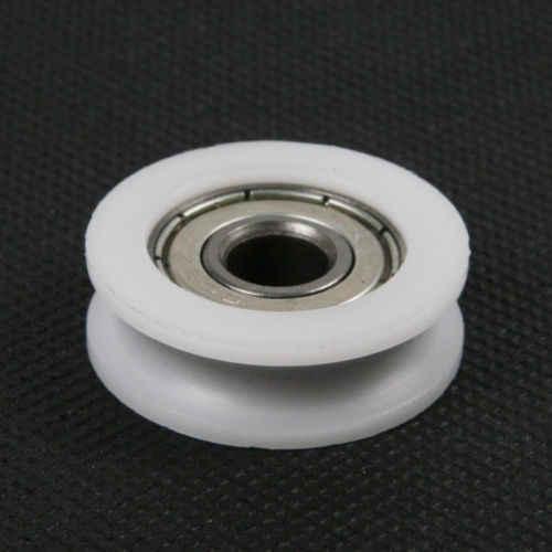 Fixmee 10 pz U Nylon plastica Incorporato 608 Radiali A Sfere 8*30*10mm Guida Puleggia