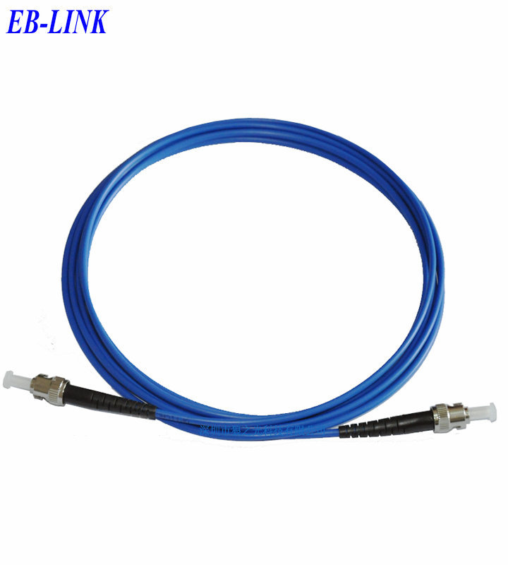 Indoor Armored 20Meters ST/PC-ST/PC,3.0mm,Singlemode 9/125,Simplex, Optical Fiber Patch Cord Cable,ST to STIndoor Armored 20Meters ST/PC-ST/PC,3.0mm,Singlemode 9/125,Simplex, Optical Fiber Patch Cord Cable,ST to ST