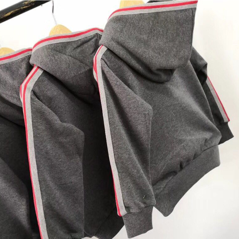 Kid Clothes Sets Children Boys Girls Tracksuits Kids Autumn Sport Suits Grey Zipper Jacket Hooded +Pants in stock