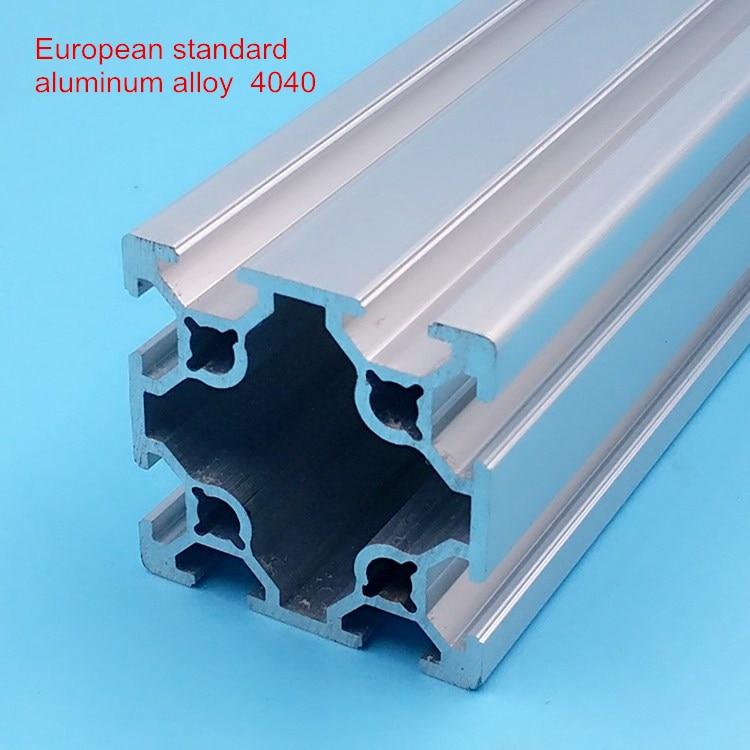 CNC bricolage v-slot 40*40 profilé linéaire en aluminium profilé 4040 Extrusions