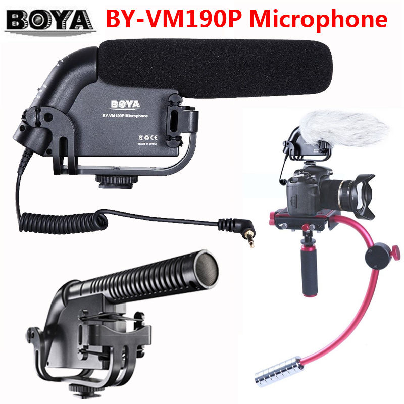 ФОТО Free shipping!!! BOYA BY-VM190P Stereo Video DSLR Camera DV Audio Recorder Shotgun Microphone VM-190P VM190P