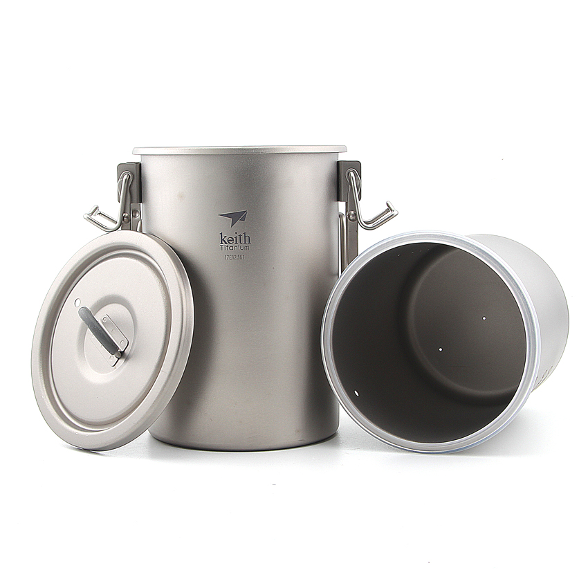 Keith Ti6300 Multipurpose Titanium Pot armor are not rice paste pot cookware in cooking light-weight camping cooker keith multipurpose titanium pot lightweight pot set camping hiking nonstick rice cooker cooking pot outdoor cookware ti6300