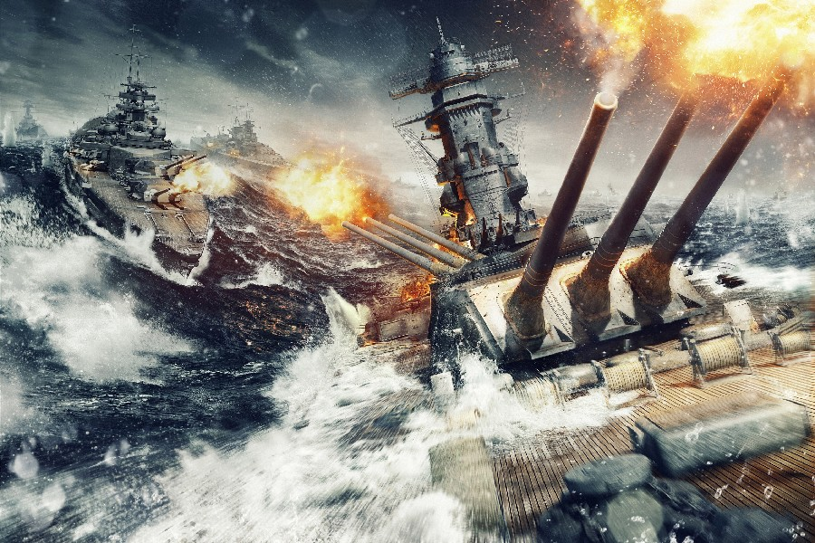 world of warships explosion sea War Games poster silk fabric cloth print wall sticker Wall Decor custom print