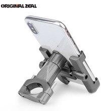 Gps Motorcycle Fietsstuur Telefoon Houder Aluminium Ondersteuning Mobiele Achteruitkijkspiegel Moto Telefoon Stand Voor Huawei Xiaomi