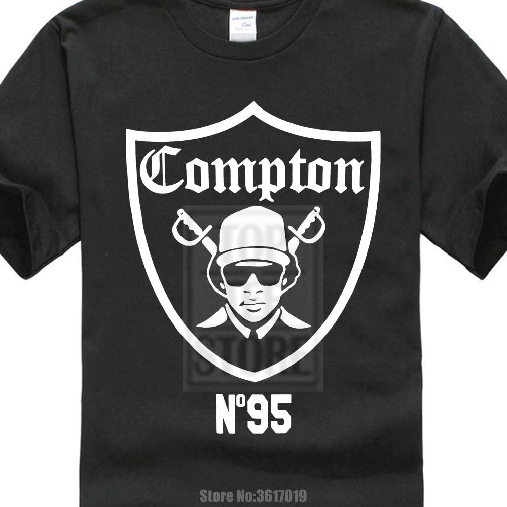Personalidad marca hombres Cool Compton Raiders 1995 Eazy E Shirt L - Ropa de hombre