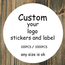 100PCS Custom stickers/Wedding Stickers printed LOGO transparent adhesive label  /Design Your Own Stickers/Personalized stickers