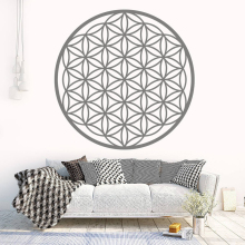 Flower Of Life Boho Decals, Vinyl Mandala Sticker Seed Wall Decoration Geometric Pattern Deco Modern MT27