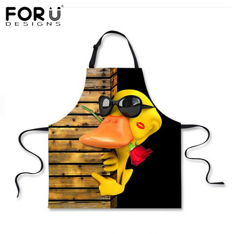 Forudesigns Kaczor Donald 3d Zwierząt Drukuj Fartuch Kuchenny Dla