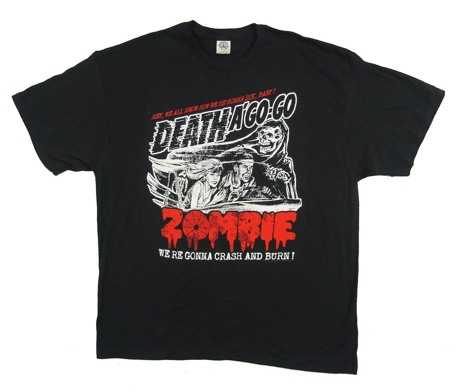 Rob Zombie Crash & Burn Death A Go Go Black T Shirt New Official Merch T Shirt Short Sleeve