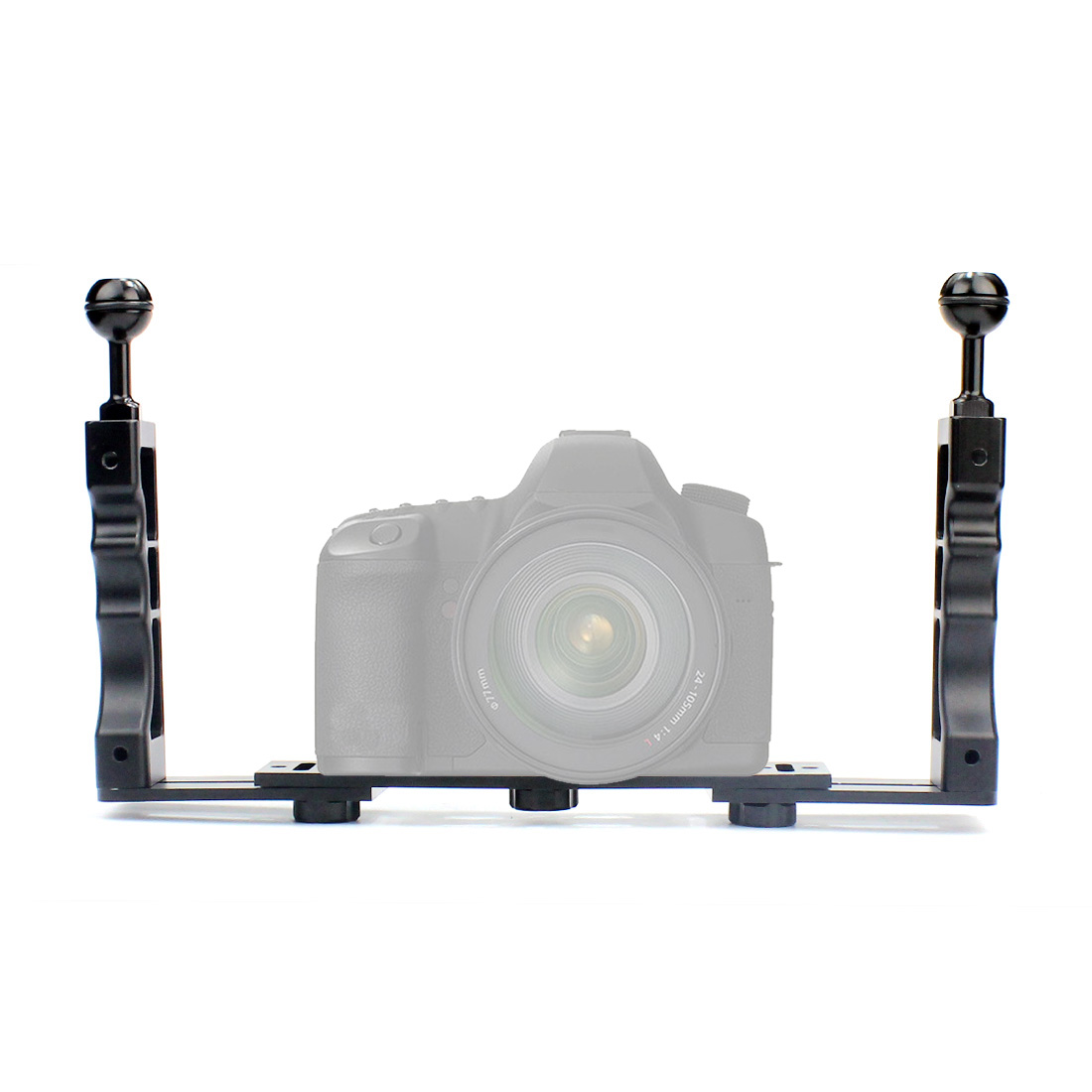 For Gopro Action Camera Holder Double Grip DiveAluminum Alloy Underwater Tray Housings Arm Accessories все цены