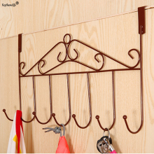 Keythemelife S-type 7 hook Metal Kitchen Cabinet Door Hooks Towel Clothes Pothook Clothes Hanger Holder Storage Rack 3D