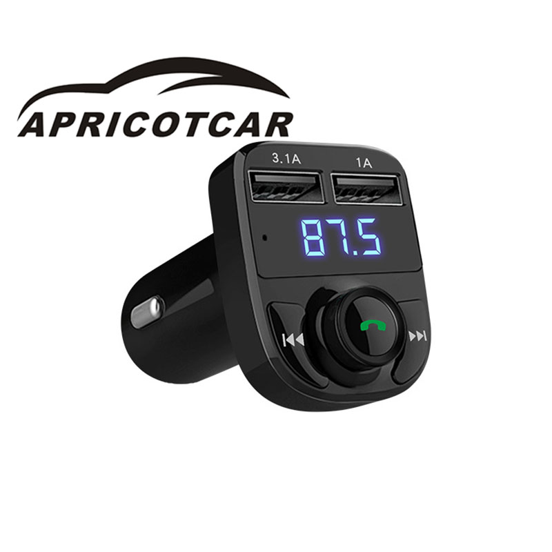 Modern style multi-function car MP3 Bluetooth player Bluetooth hands-free call dual USB car charger mobile phone charger