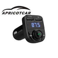 Modern Style Multi Function Car MP3 Bluetooth Player Bluetooth Hands Free Call Dual USB Car Charger