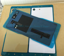 JEDX M5 Back Glass Cover for Sony Xperia m5 Dual E5603 E5633 Battery Cover Door Housing With NFC Replacement
