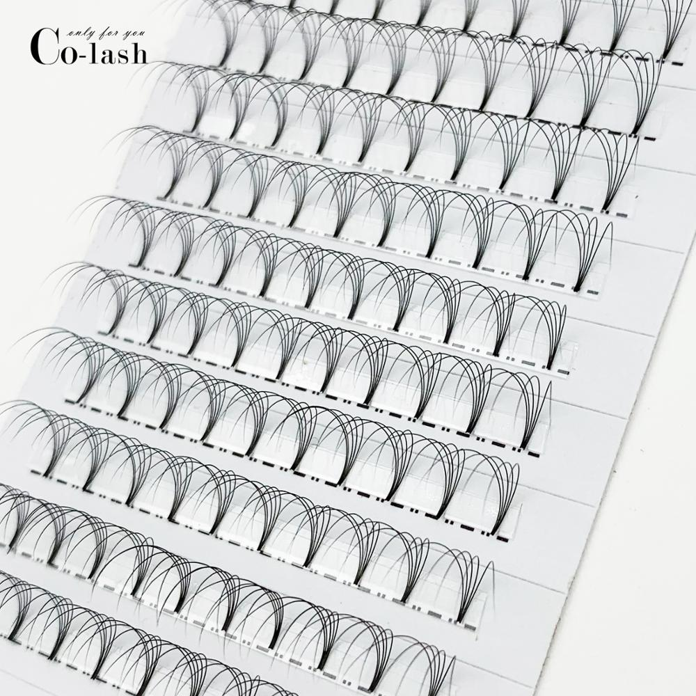 Image 5 - Colash Premade Russian Volume Fans 3d/4d/5d/6d Mink Eyelashes Short Stem Lash Pre made Eyelash Extensions Supplies-in False Eyelashes from Beauty & Health
