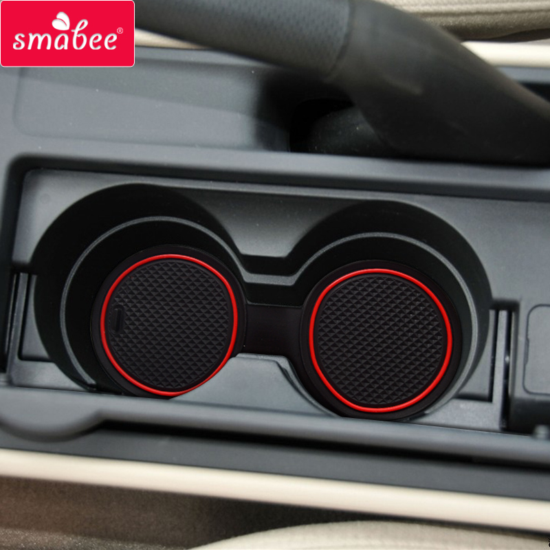 smabee car Gate slot mats For Mazda 3 BK 2003 - 2009 MK1 Mazda3 2004 2005 2006 2007 2008 Interior Accessories Door Groove Mat