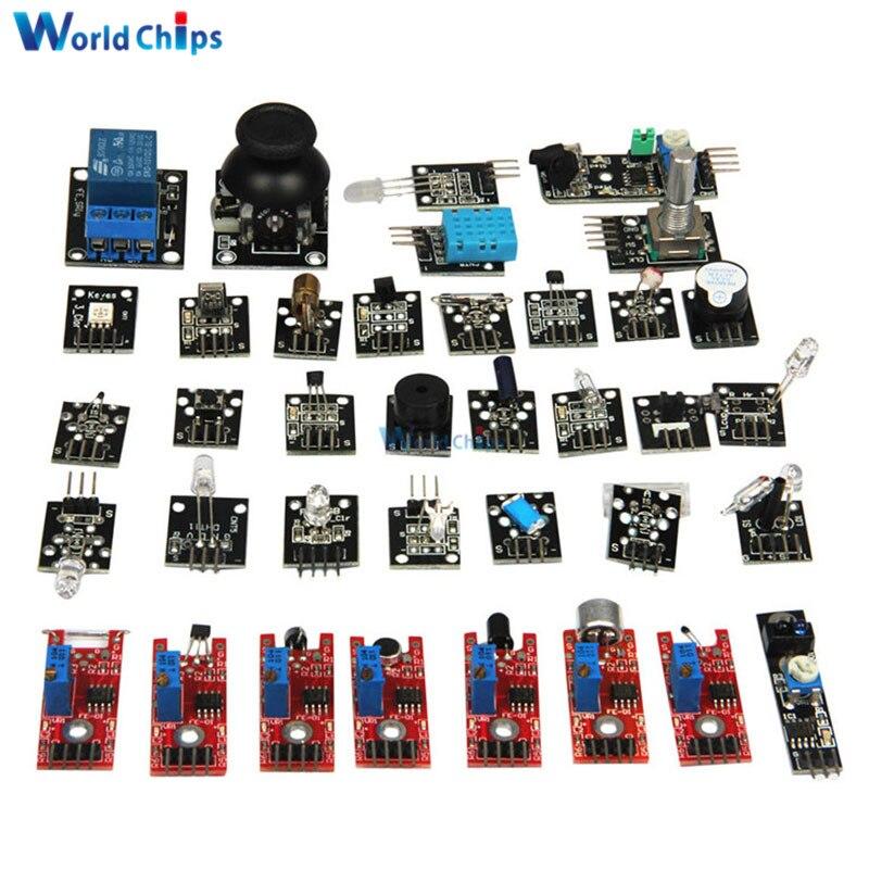 Diymore 37 em 1 kits de sensor para arduino raspberry pi iniciante módulo sensor aprendizagem terno final qualidade superior módulo sensor kit