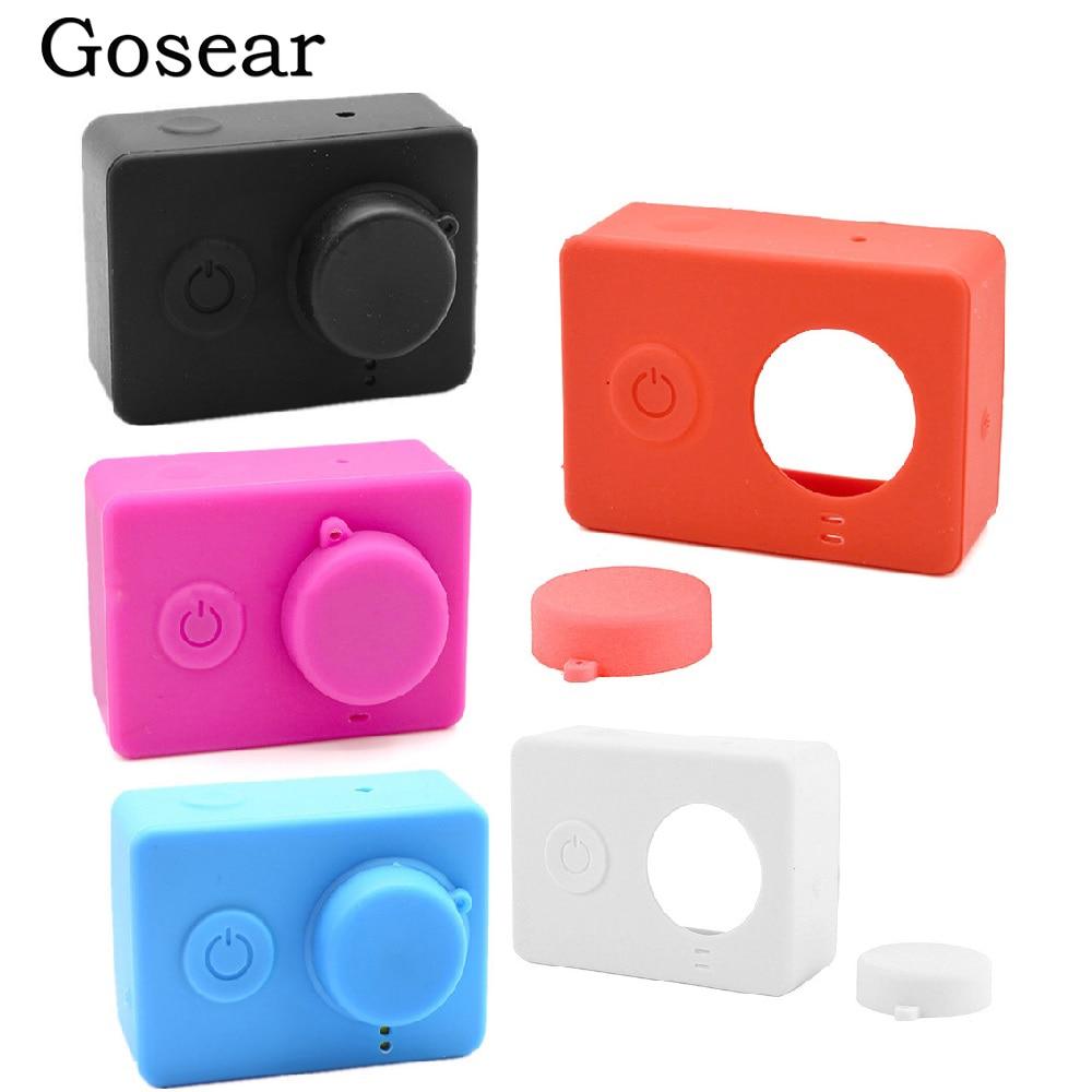 Silicona Funda Cubierta Protectora Piel Lente Tapa para Xiaomi//Xiaoyi Yi Cámara