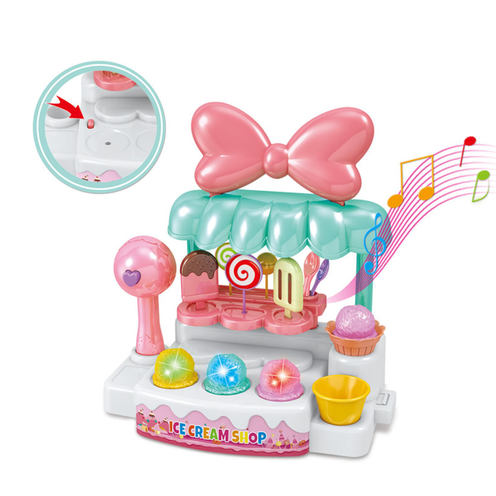 1 Set Pretend Play Toy Simulation Miniature Small Sweet Candy Ice Cream Cart Shop Supermarket Children Playing Toy ice cream cart toy