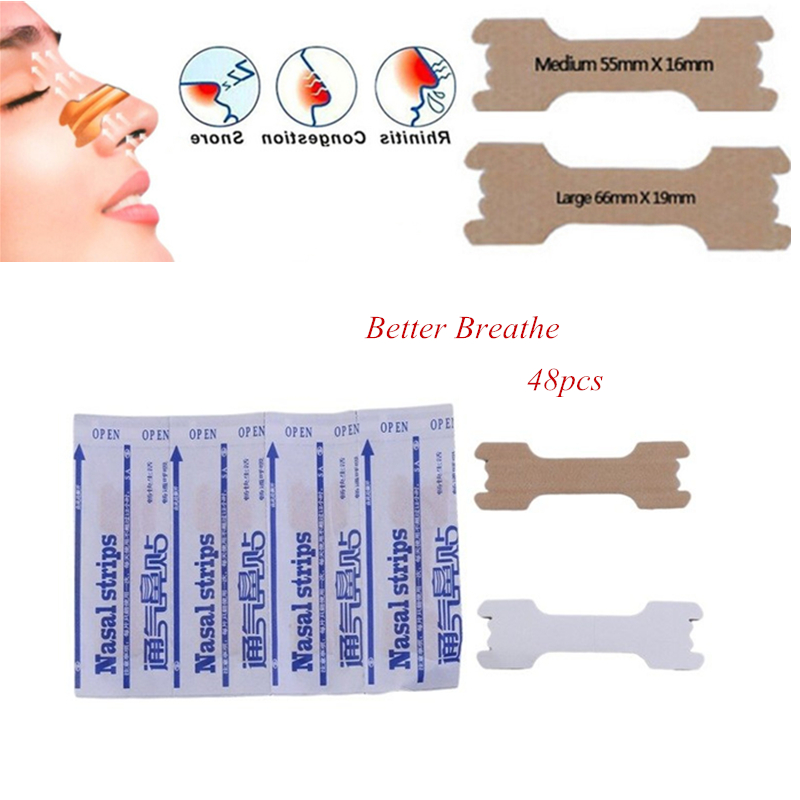 Hot Sale30 Pcs Breathe Right Better Nasal Strips Right Way To Stop Snoring Anti Snoring Strips Easier Better Breathe Health Care