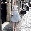 Pale Grey 5 layer Swiss Soft Tulle Skirt Hidden Zipper Band 5cm Width  Adult Tutu Women Autumn Style High Waisted Ball Gown
