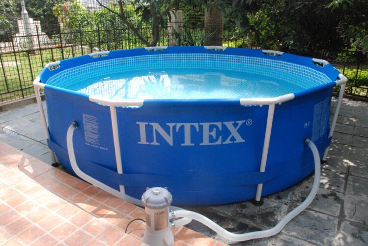 2016 new intex 28212 56996 round bracket pool family. Black Bedroom Furniture Sets. Home Design Ideas