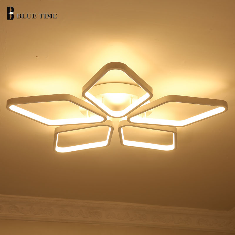 White Modern Led Ceiling Lights For Living Room Bedroom Dining Room Lamp AC85-265V simple led Ceiling Lamp 10-15 square meter noosion modern led ceiling lamp for bedroom room black and white color with crystal plafon techo iluminacion lustre de plafond
