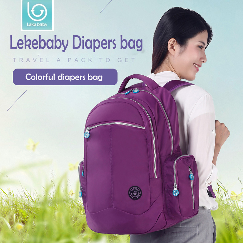 Lekebaby Maternity Bag Mummy Nappy Stroller Bags Large Capacity Baby Travel Backpack Design Nursing Diaper Bag Baby Care Mother