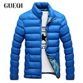 GUEQI Brand Men's Winter Jackets Plus Size M-4XL Stand Collar Style Add Fleece Windproof Man Warm Black Khaki Down Coats
