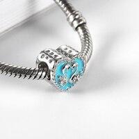 RainMarch Swan Heart Bead Charms Fit Pandora Bracelets Original 925 Sterling Silver Beads Jewelry Making Dropshipping Bijuterias