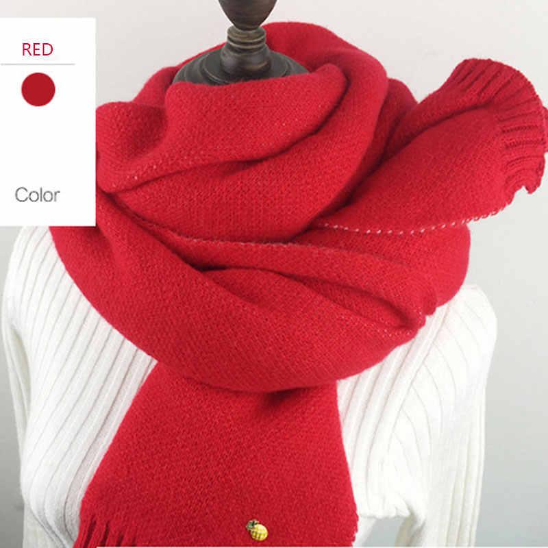 2c3b31843f16 шарф теплый зимний вязаный женский теплый красный шарф женский теплый  зимний ...